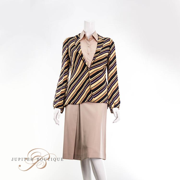 b2bff28bbbd GUCCI Diagonal Stripe Print Silk Jacket