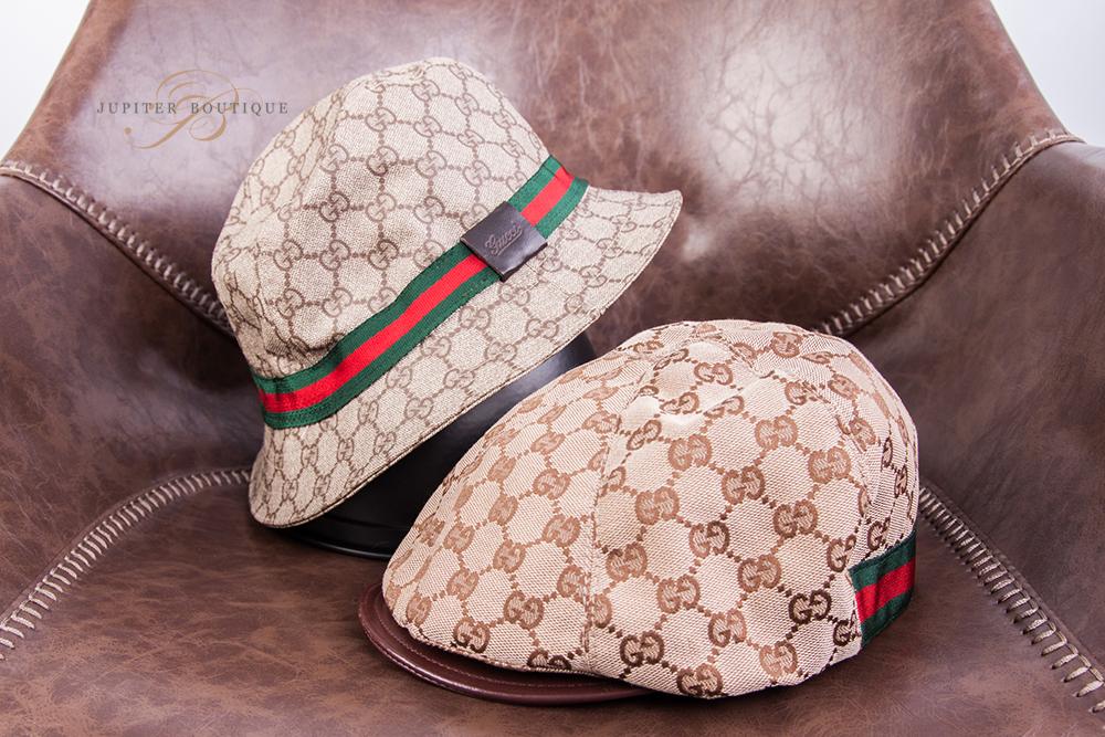 a5e392e3256 GUCCI GG Signature Beige Fedora Bucket Hat L - Jupiter Boutique