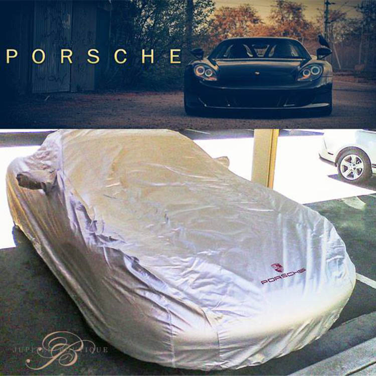 porsche 996 911 silver car cover with porsche crest logo. Black Bedroom Furniture Sets. Home Design Ideas